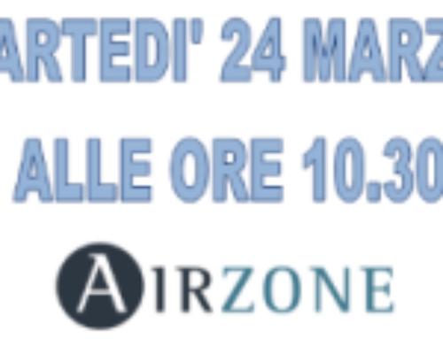 Gestione SMART e innovativa degli impianti – WEBINAR AIRZONE – 24 MARZO